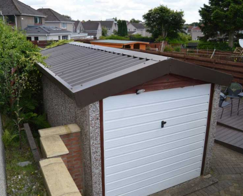 Asbestos Garage Overclad